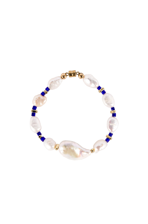 joolz by Martha Calvo Into The Blue Pearl Bracelet in Blue