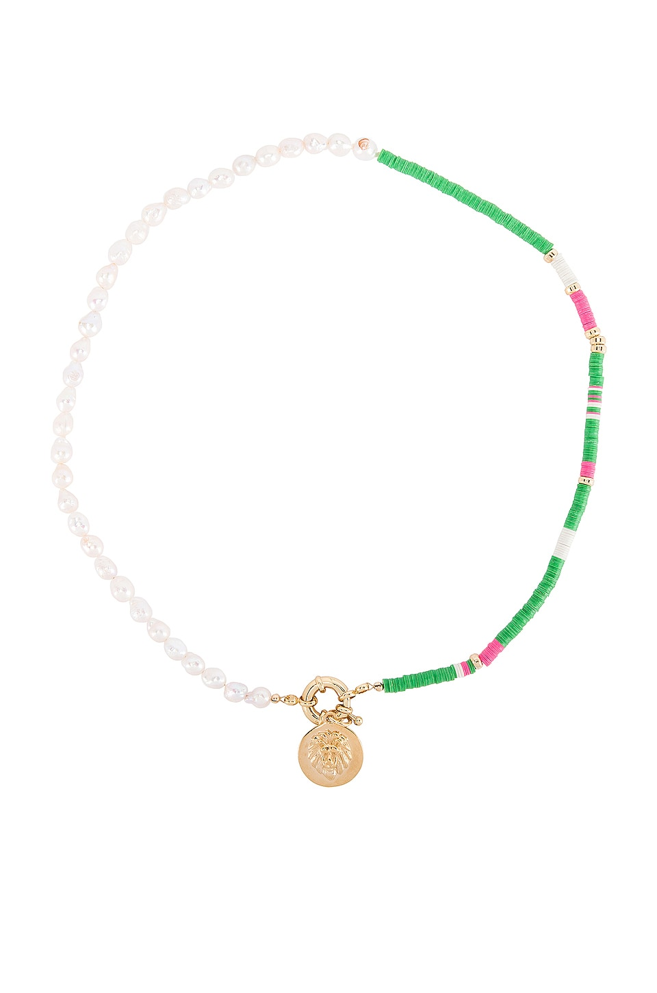 joolz by Martha Calvo Lioness Necklace in Kelly Green