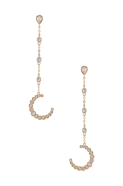 joolz by Martha Calvo The Moon Drop Earrings in Gold