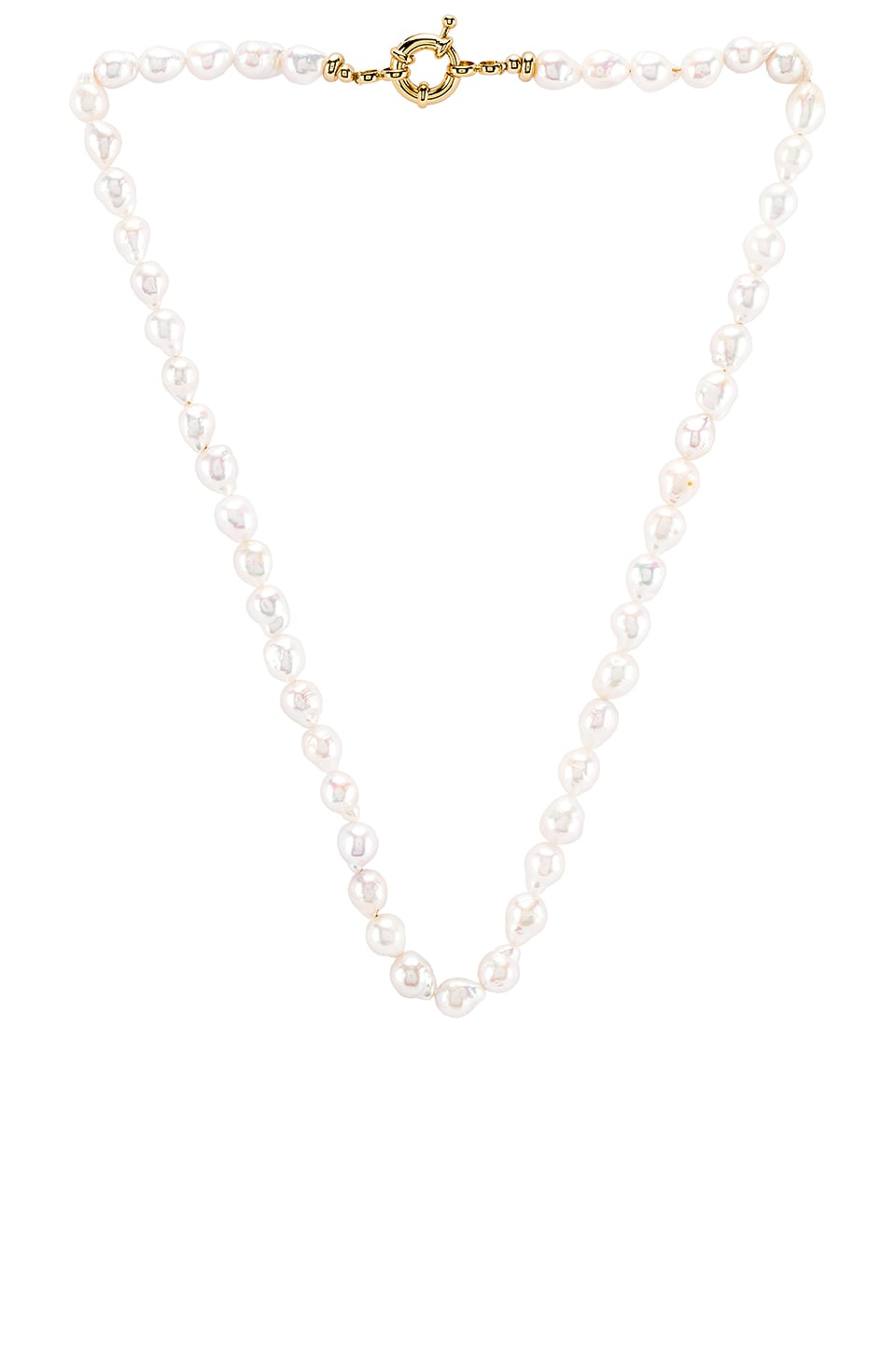 joolz by Martha Calvo Mini Baroque Pearl Necklace im Gold