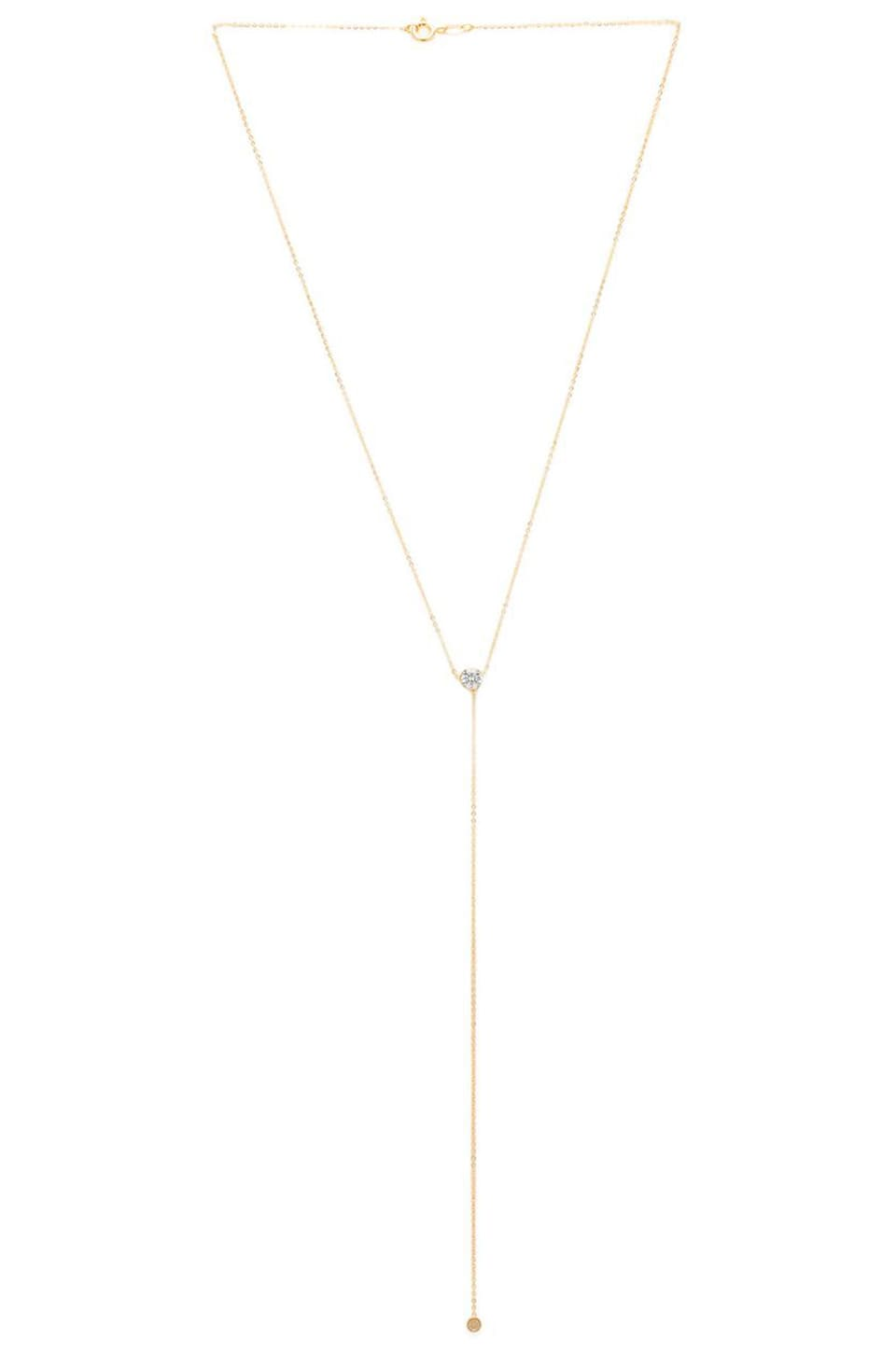 joolz by Martha Calvo CZ Bezel Lariat in Gold
