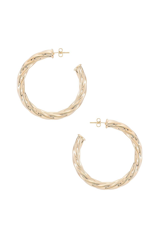 joolz by Martha Calvo Twist Hoop Earrings in Gold