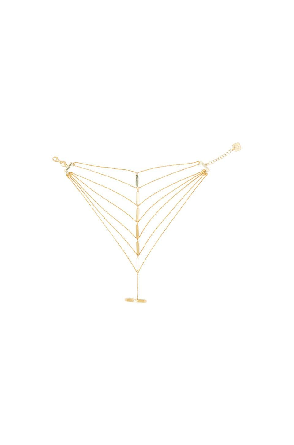 joolz by Martha Calvo Vanessa Handchain in Gold