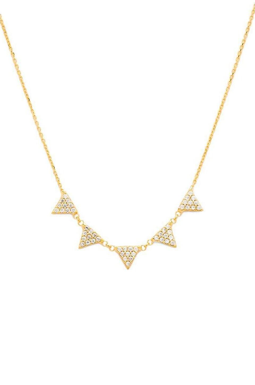 joolz by Martha Calvo 5 Triangle Neckalce in Gold