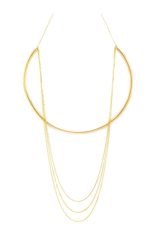 joolz by Martha Calvo Multi Chain Choker in Gold