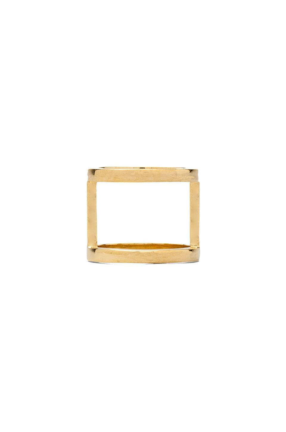 joolz by Martha Calvo Bar Ring in Gold