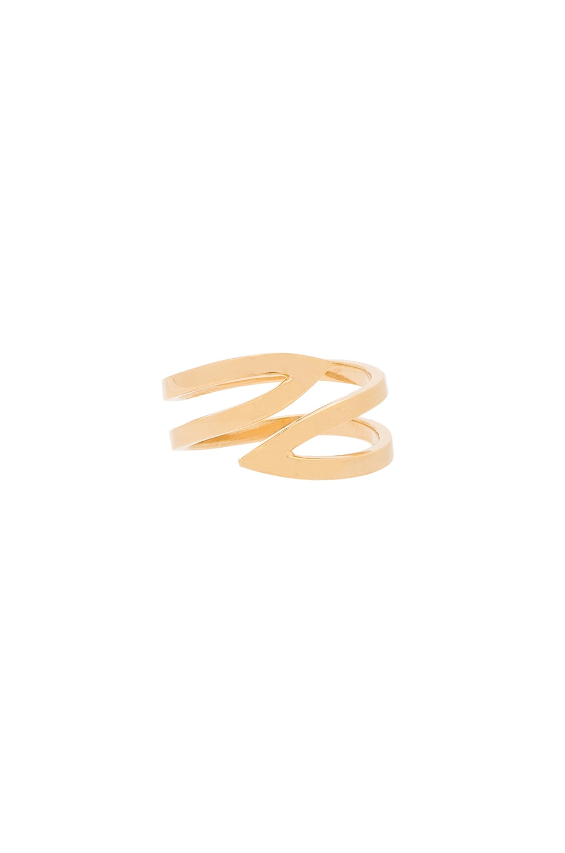 joolz by Martha Calvo Triangle Cuff Ring in Gold