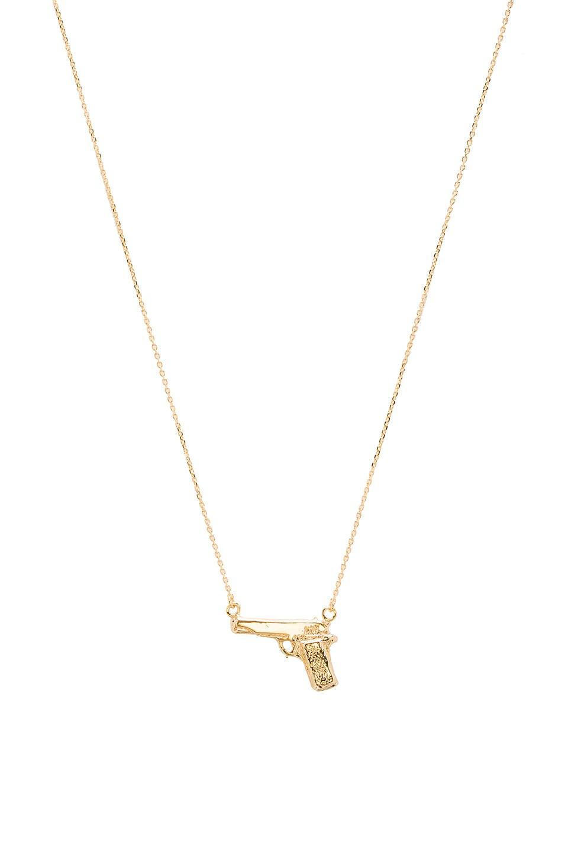 joolz by Martha Calvo Handgun Necklace in Gold