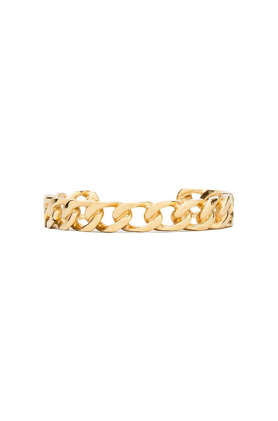 joolz by Martha Calvo Large Curb Link Bangle in Gold