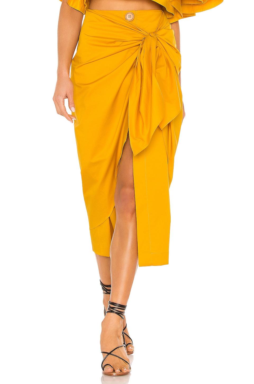 Johanna Ortiz Fresh Lemon Skirt in Summer Mustard