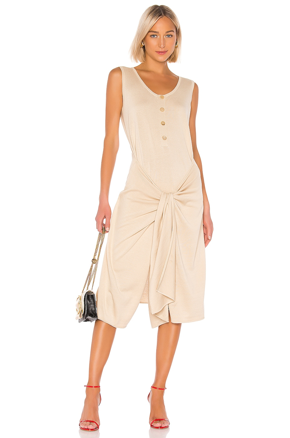 Joseph Dan Dress in Bone