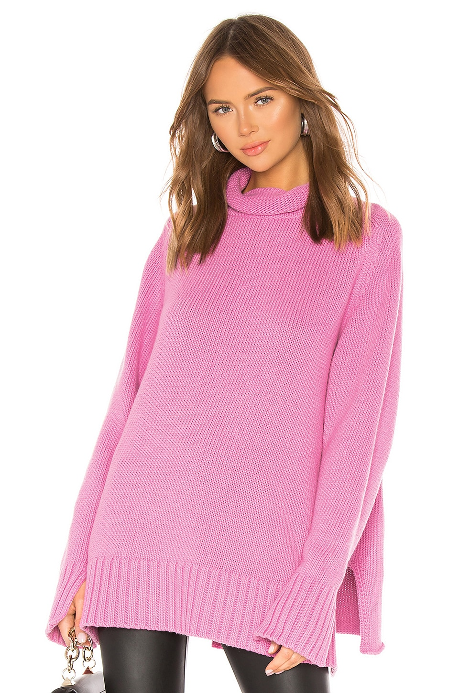 Joseph High Neck Sweater in Carnation Pink