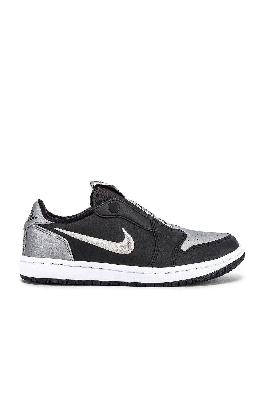 Jordan AJ 1 Low Slip SE Sneaker in Black, Medium Grey & White