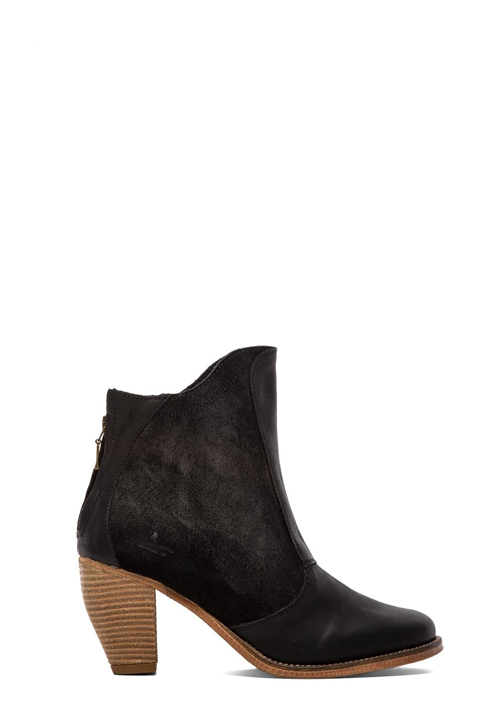 J SHOES Ranch Canter Slip On Bootie in Black
