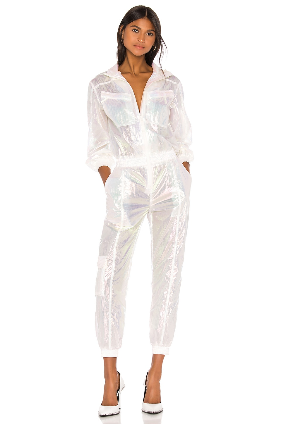 JONATHAN SIMKHAI x REVOLVE Boilersuit in Iridescent