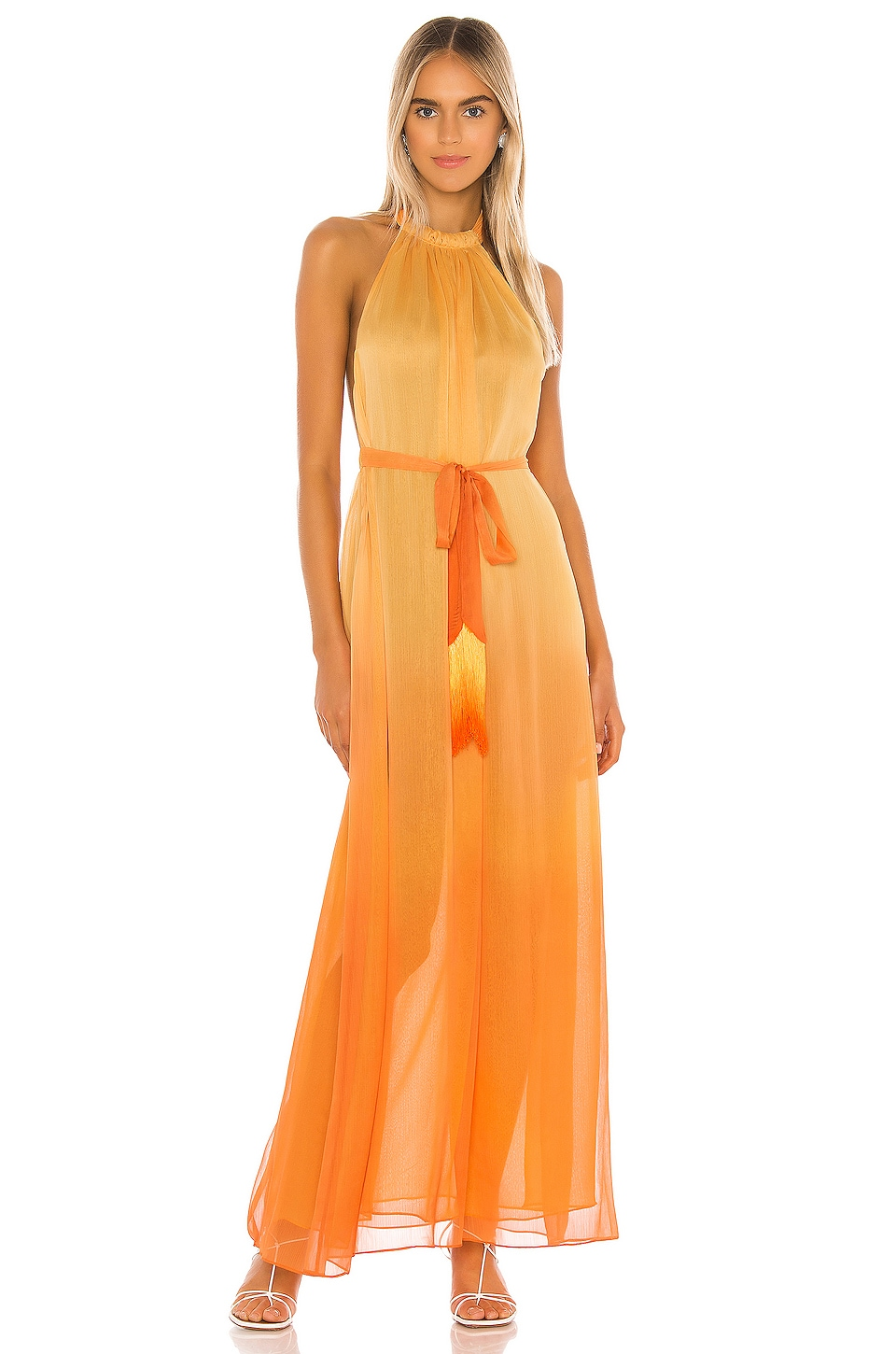 Ombre Halter Maxi Dress, view 2, click to view large image.