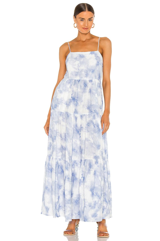 JONATHAN SIMKHAI Clarissa Maxi Dress in Sky Tie Dye