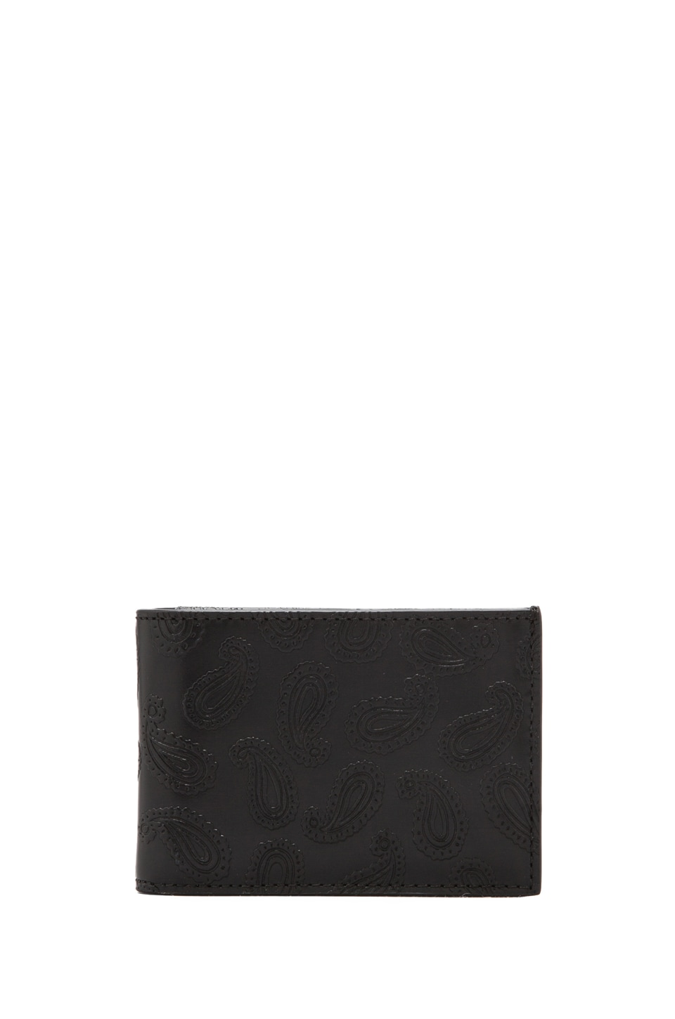 Jack Spade Embossed Paisley Index Wallet in Black/Grey Stripe