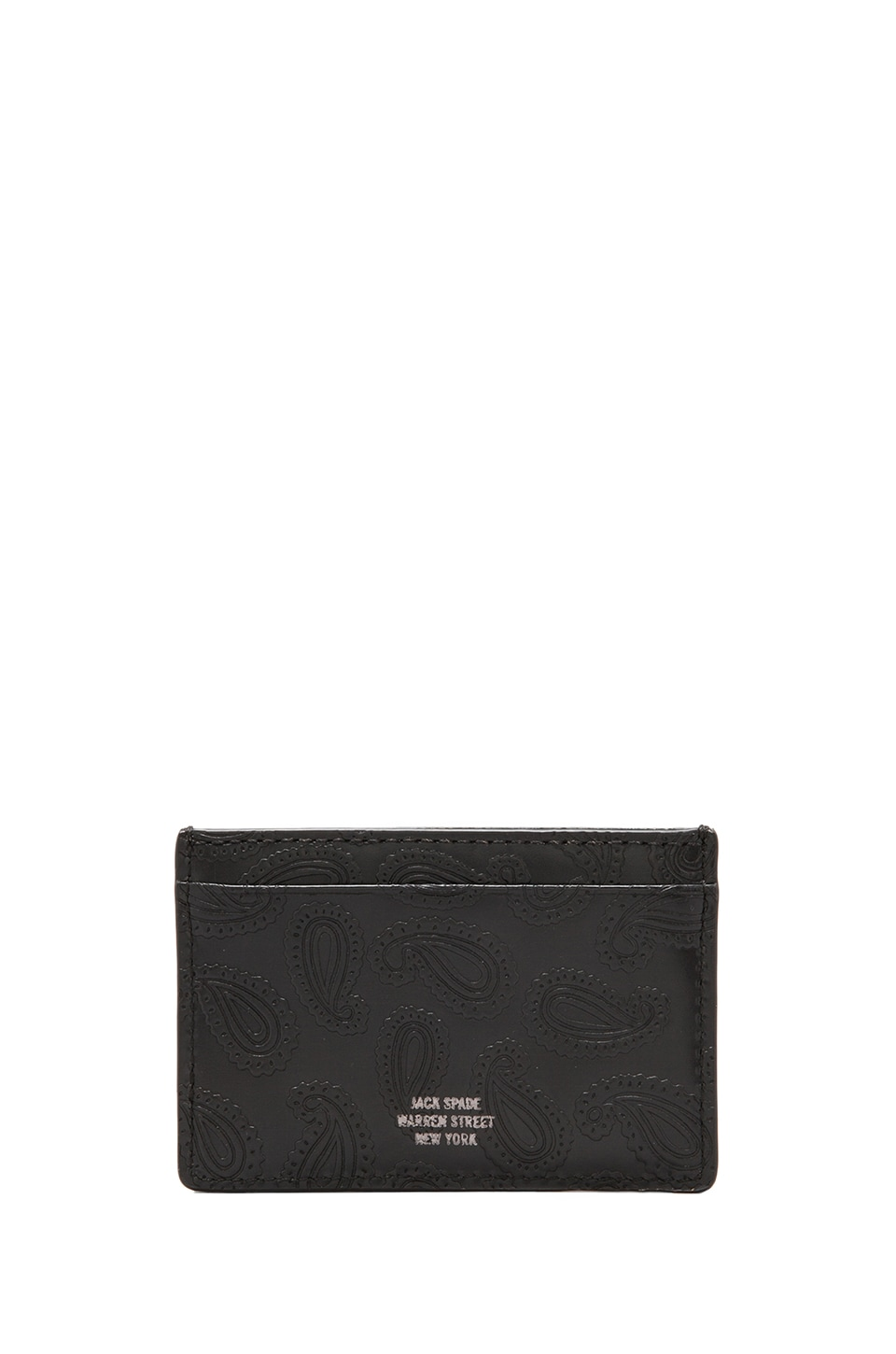 Jack Spade Embossed Paisley Slim Card Holder