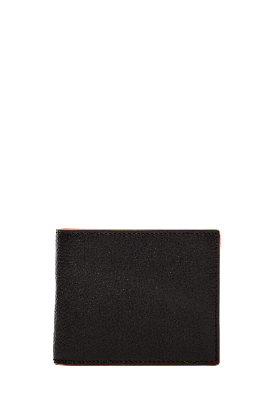Jack Spade Mason Leather Vertical Flap Wallet in Black & Orange & Black & Cobalt