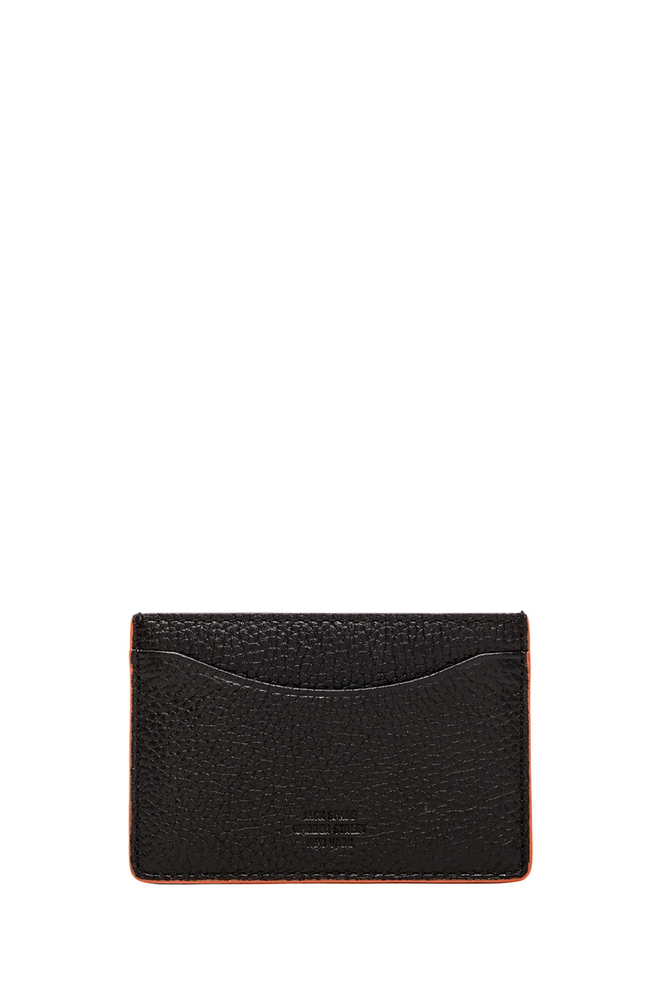 Jack Spade Mason Leather Credit Card Holder in Black & Orange & Black & Cobalt
