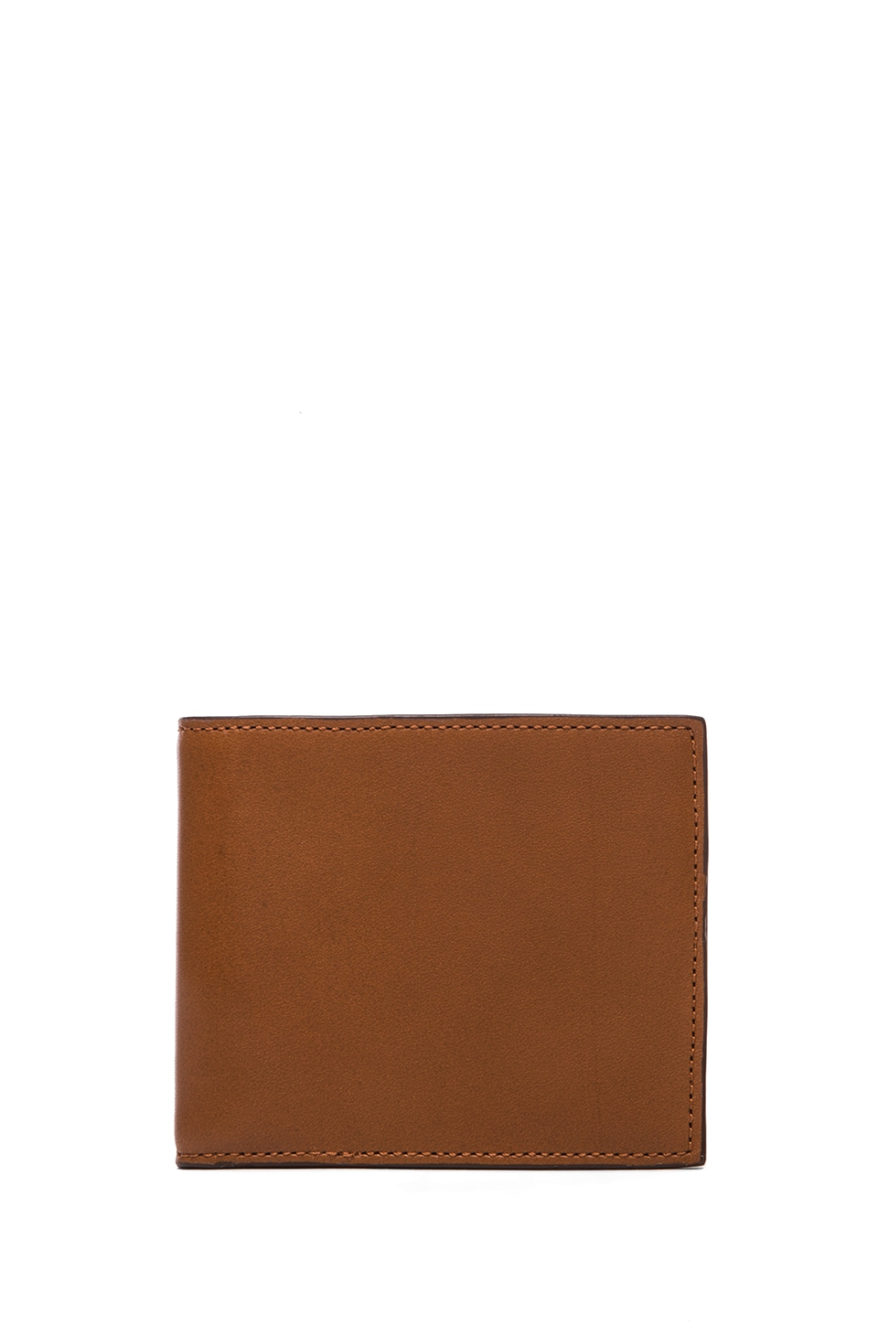 Jack Spade Mill Leather Bill Holder in Tobacco & Tank