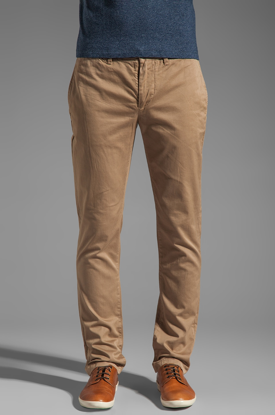 Jack Spade Slim Chinos in Dark Khaki
