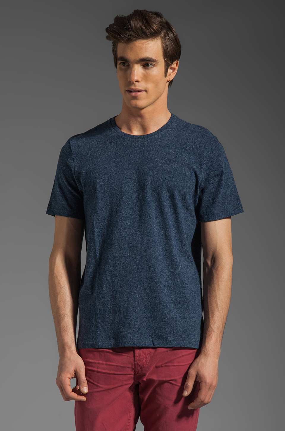 Jack Spade Kinsley Crewneck T-Shirt in Heather Navy