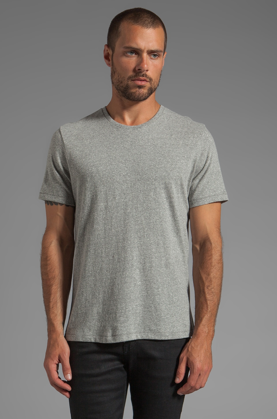 Jack Spade Kinsley Crewneck T-Shirt in Cement Grey