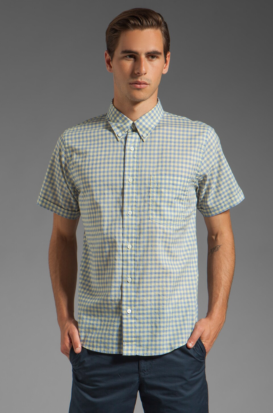 Jack Spade Benny Gingham Shirt in Yellow
