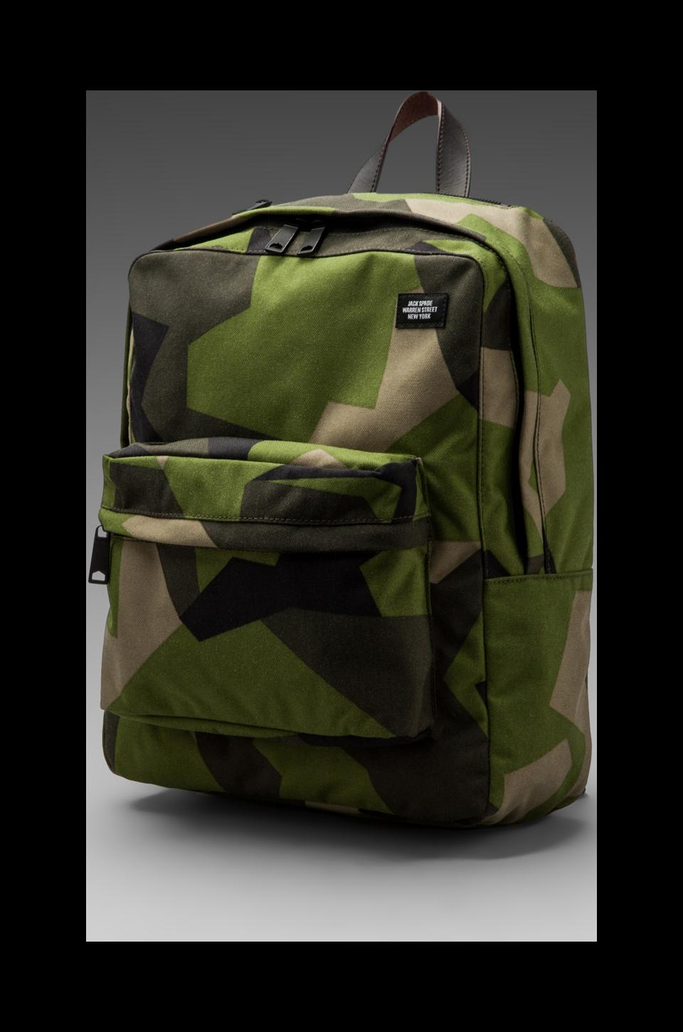 Jack Spade Swedish M90 Cordura Backpack in Green