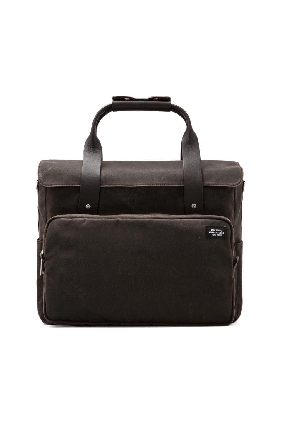 Jack Spade Waxwear Survey Bag in Chocolate/Navy