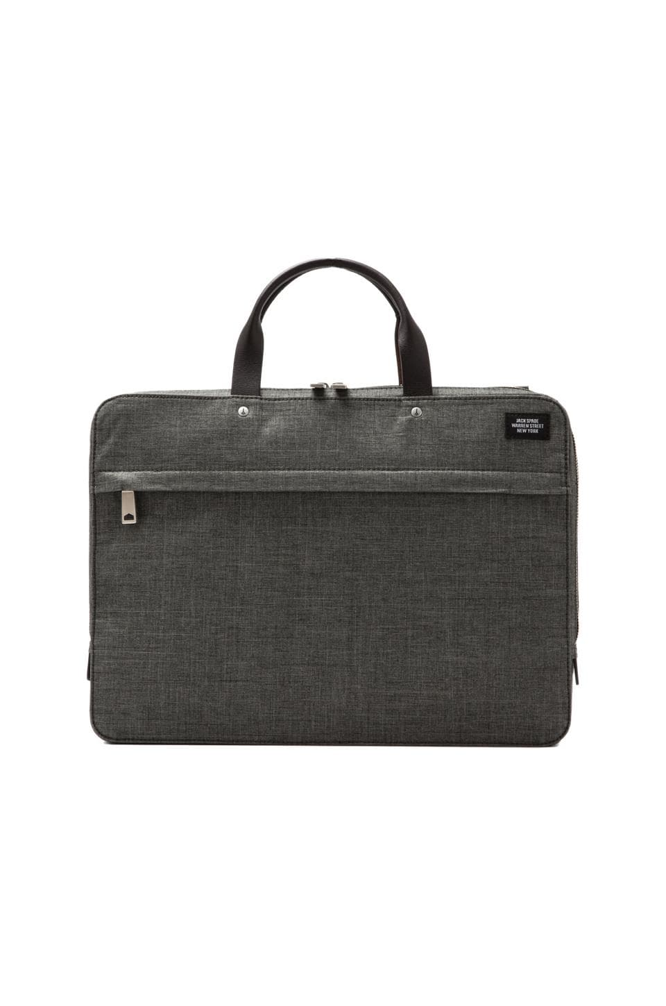 Jack Spade Tech Oxford Slim Brief in Grey/Tank