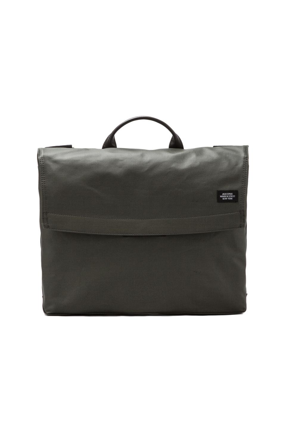 Jack Spade Coated Canvas Folded Messenger in Tank