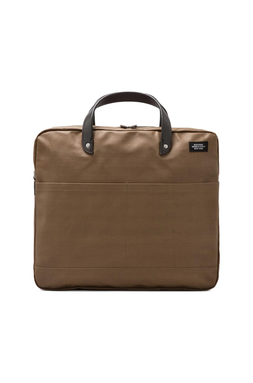 Jack Spade Coated Canvas Carryall in Khaki