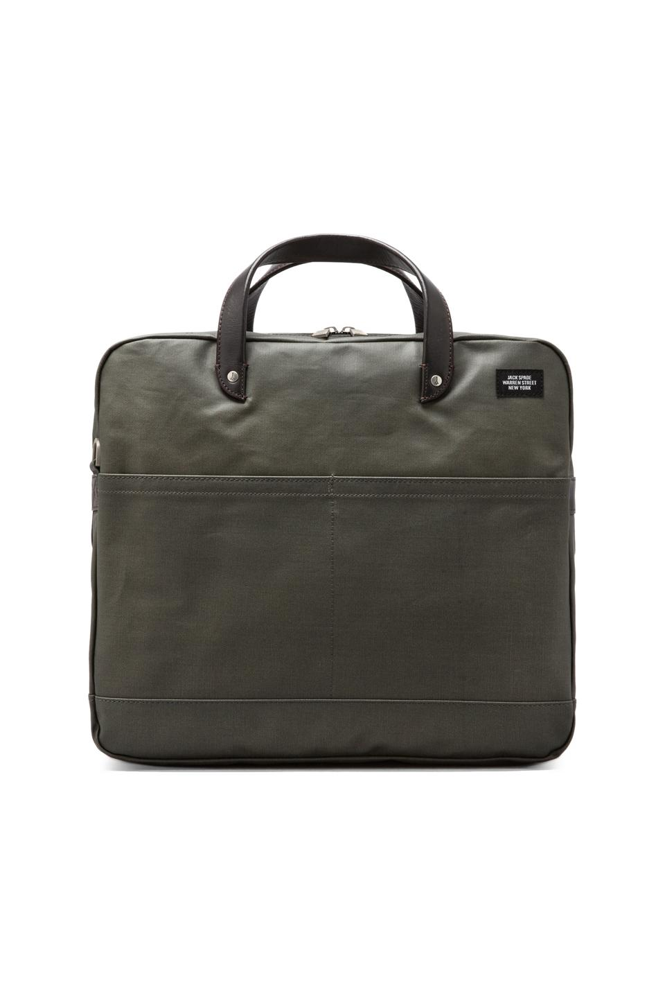 Jack Spade Coated Canvas Carryall in Tank