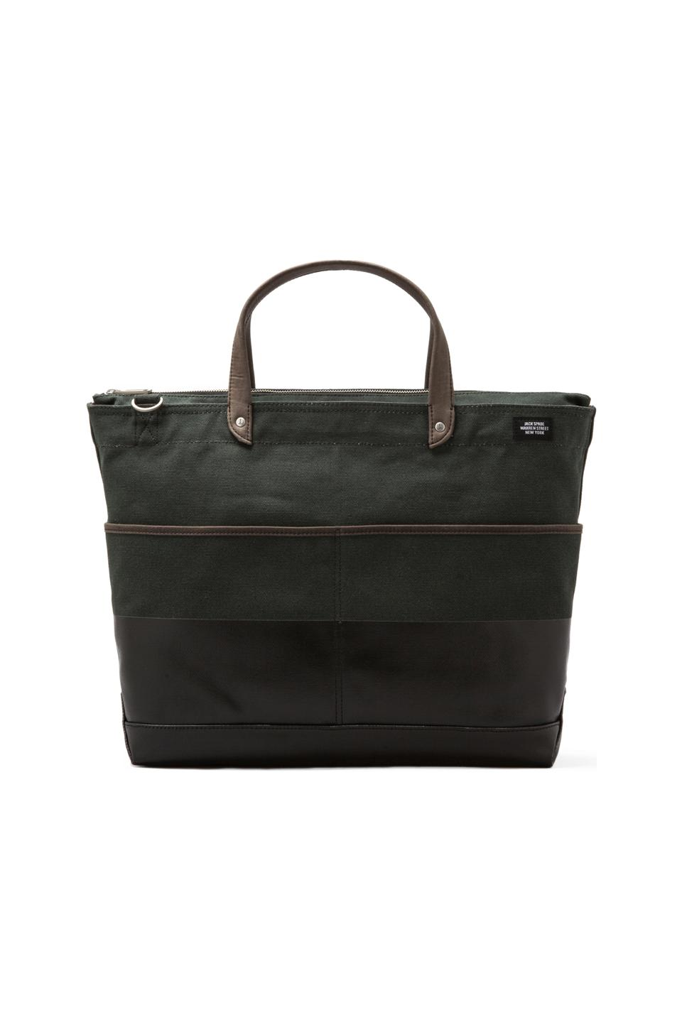 Jack Spade Dipped Carpenter Bag in Evergreen/Black