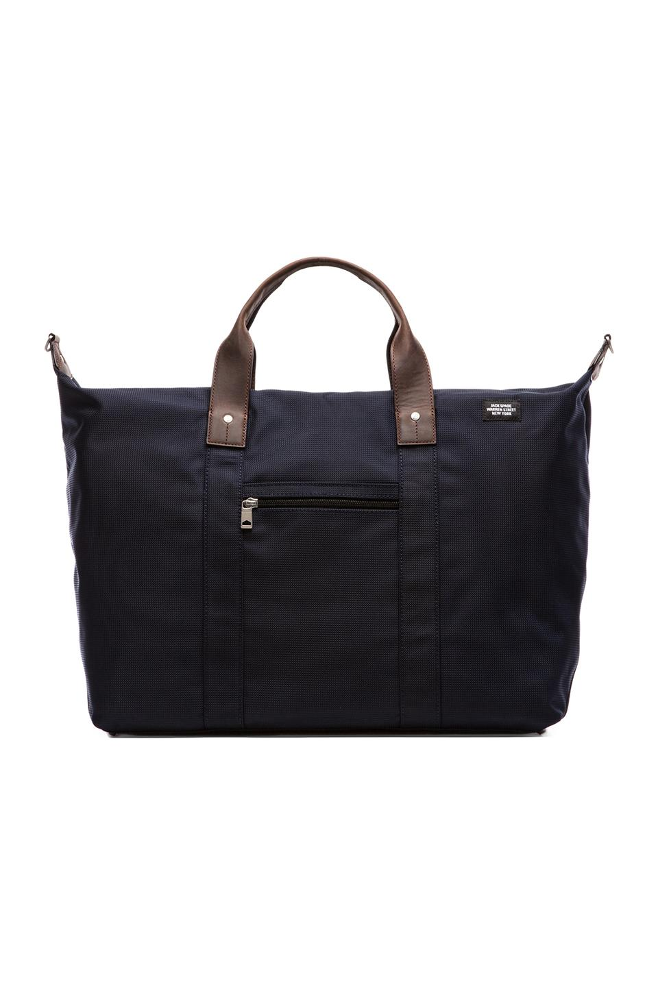 Jack Spade Luggage Nylon Wing Duffle in Navy & Navy