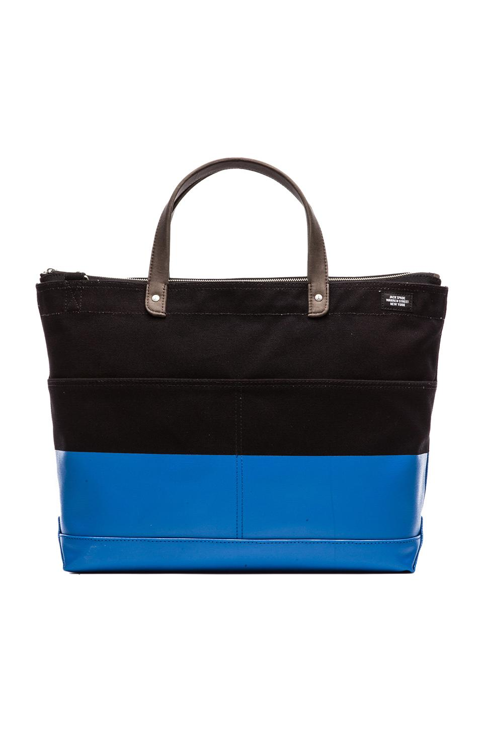 Jack Spade Dipped Industrial Carpenter Bag in Black & Bright Blue