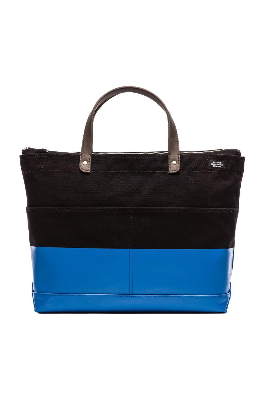 Jack Spade Dipped Industrial Carpenter Bag in Black & Bright Blue