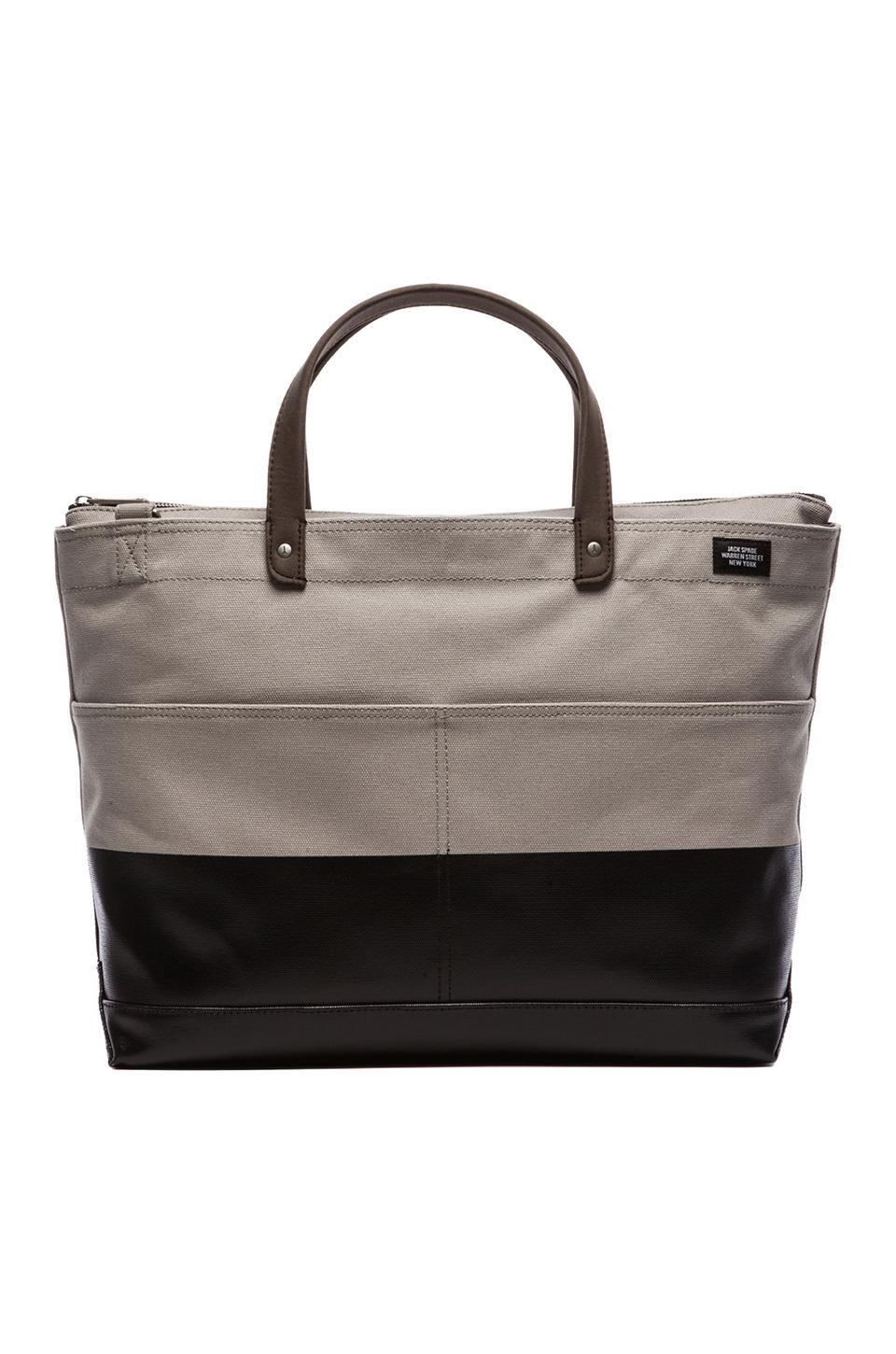 Jack Spade Dipped Industrial Carpenter Bag in Grey & Black