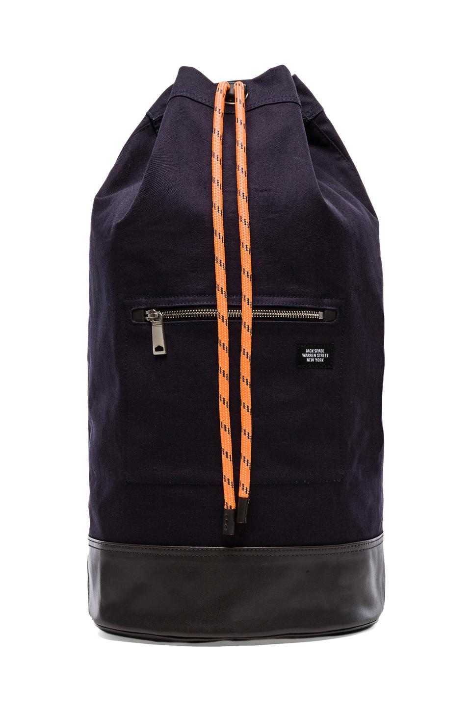 Jack Spade Rope Canvas Cinch Backpack in Navy