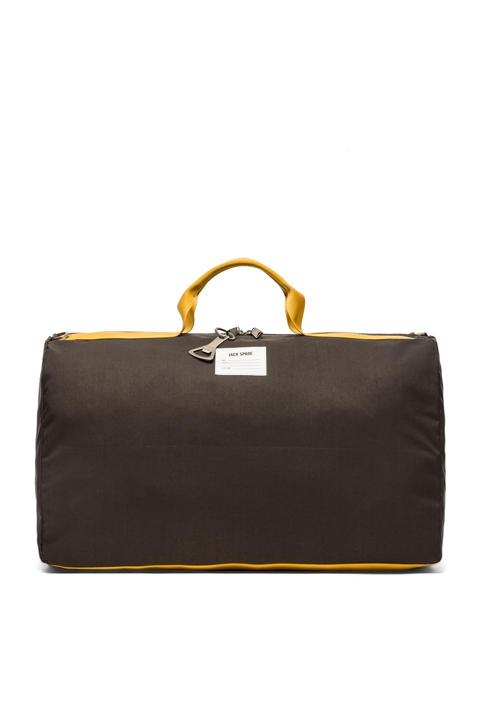 Jack Spade Apex Barrel Duffle in Medium Grey