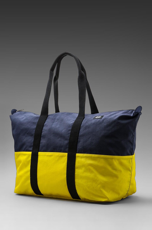 Jack Spade Stowaway Duffle in Navy/Yellow