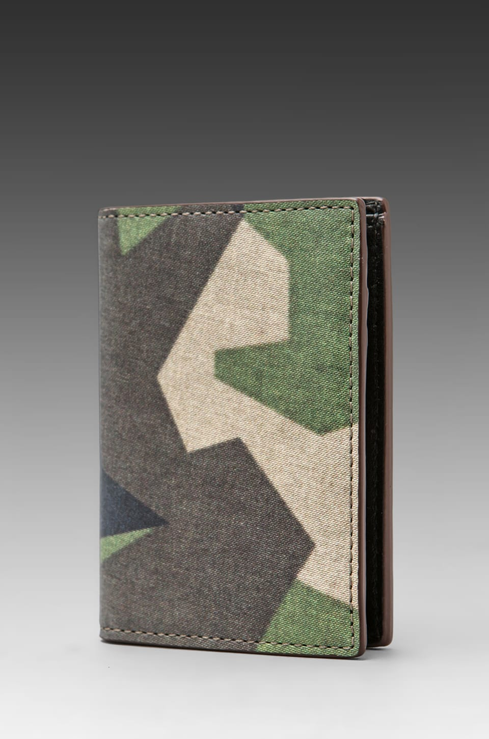Jack Spade Swedish M90 Camo Vertical Flap Wallet in Green/Black