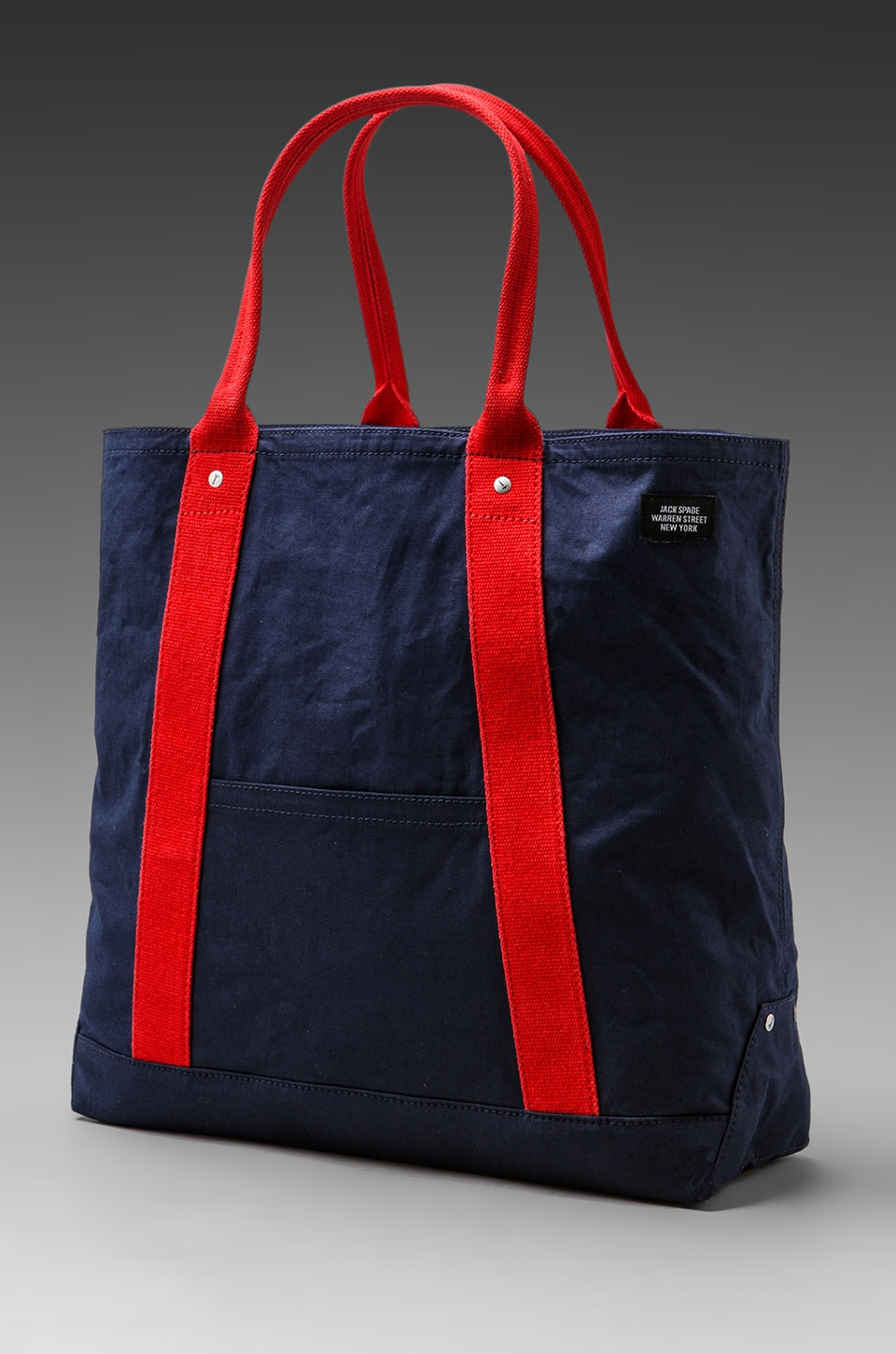 Jack Spade Artist Canvas 101 Tote in Navy/Red