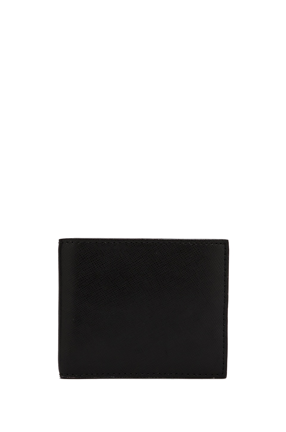 Jack Spade Wesson Leather Bill Holder Wallet in Black