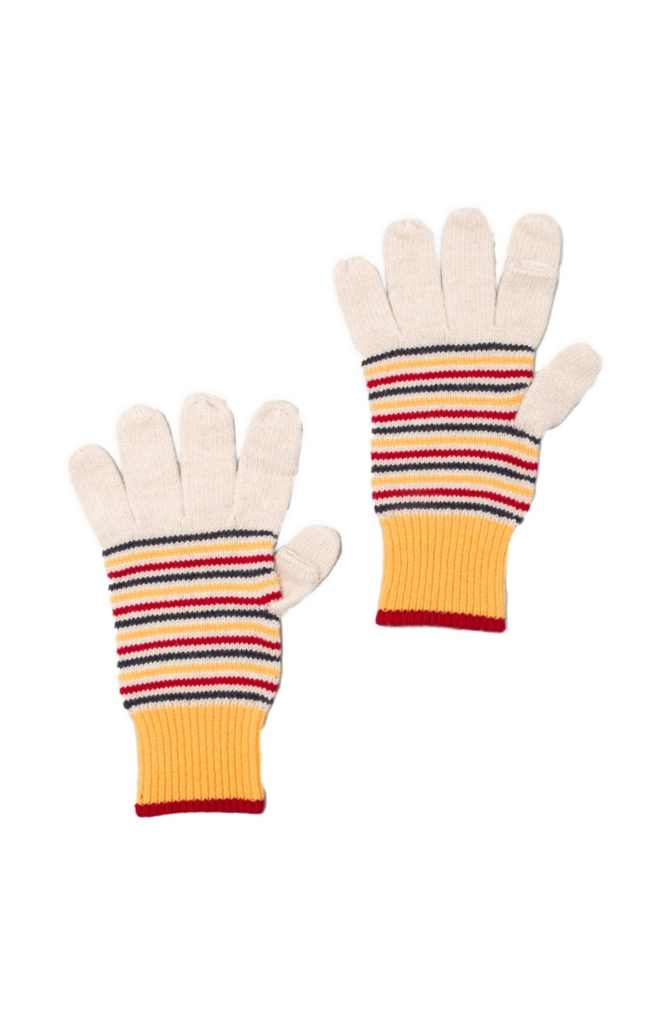 Jack Spade Keller Striped Gloves in Oatmeal