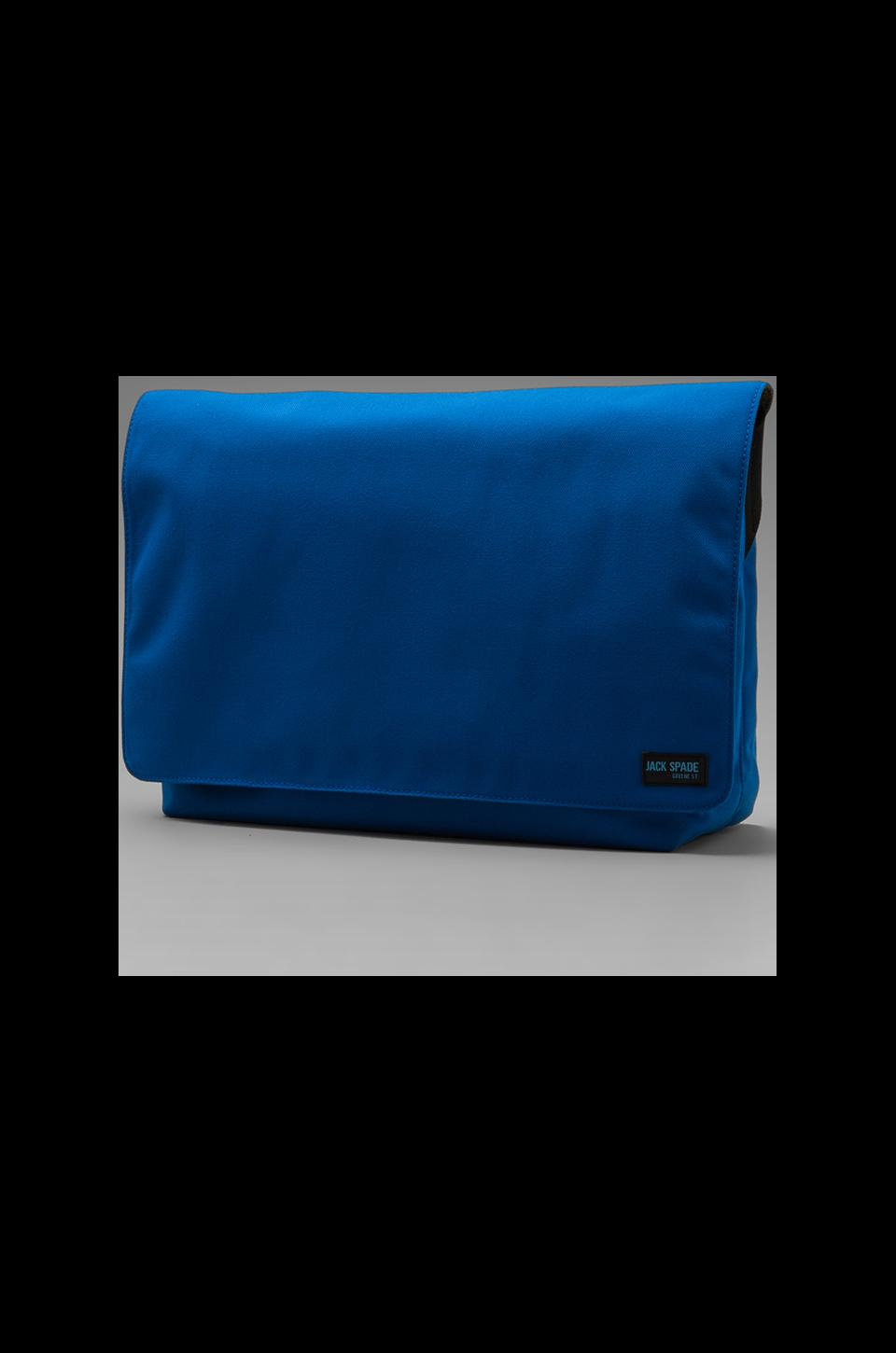 Jack Spade Nylon Canvas Computer Field Bag en Royal Blue