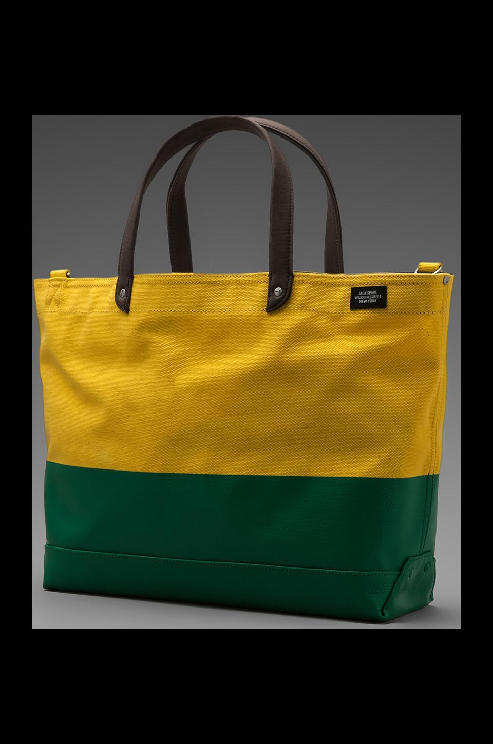Jack Spade Dipped Industrial Coal Bag in Lemon/Fresh Green